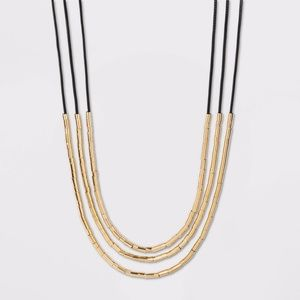 Bead Multilayer Cord Necklace - a New Day™